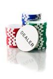 ζωηρόχρωμο πόκερ τσιπ Στοκ φωτογραφία με δικαίωμα ελεύθερης χρήσης