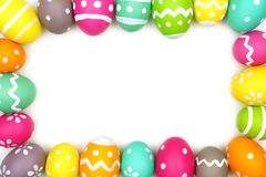Ζωηρόχρωμο πλαίσιο αυγών Πάσχας Στοκ φωτογραφία με δικαίωμα ελεύθερης χρήσης