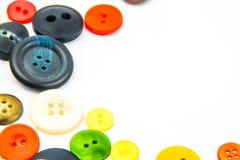 Ζωηρόχρωμο πλαίσιο κουμπιών Στοκ Φωτογραφία