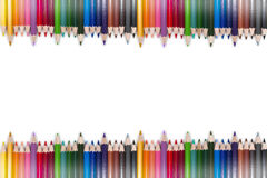 Ζωηρόχρωμο πλαίσιο 10 μολυβιών Στοκ εικόνα με δικαίωμα ελεύθερης χρήσης