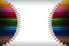 Ζωηρόχρωμο πλαίσιο 15 μολυβιών Στοκ Φωτογραφία