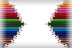 Ζωηρόχρωμο πλαίσιο 18 μολυβιών Στοκ Εικόνες