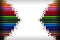 Ζωηρόχρωμο πλαίσιο 17 μολυβιών Στοκ Φωτογραφία