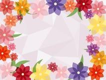 Ζωηρόχρωμο πλαίσιο λουλουδιών με το αφηρημένο υπόβαθρο απεικόνιση αποθεμάτων