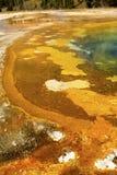 Ζωηρόχρωμο πλαίσιο της γεωθερμικής λίμνης στο πάρκο Yellowstone, Ουαϊόμινγκ Στοκ Φωτογραφίες