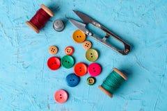 ζωηρόχρωμο πλαστικό κουμπιών Στοκ Εικόνες