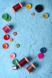 ζωηρόχρωμο πλαστικό κουμπιών Στοκ Φωτογραφία