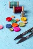 ζωηρόχρωμο πλαστικό κουμπιών Στοκ Εικόνα