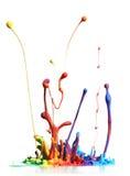 ζωηρόχρωμο ράντισμα χρωμάτω& διανυσματική απεικόνιση