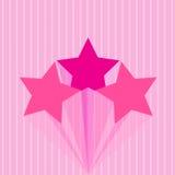 Ζωηρόχρωμο ροζ αστεριών Στοκ εικόνες με δικαίωμα ελεύθερης χρήσης