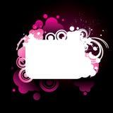 ζωηρόχρωμο ροζ πλαισίων grunge Διανυσματική απεικόνιση