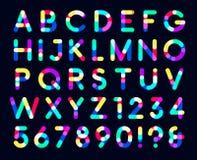Ζωηρόχρωμο σκοτεινό υπόβαθρο πηγών επικαλύψεων μόνο κεφαλαία γράμματα ενός σημείου διανυσματική απεικόνιση