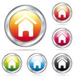 ζωηρόχρωμο σπίτι κουμπιών διανυσματική απεικόνιση
