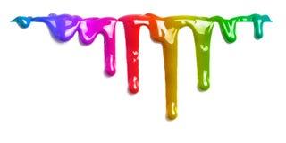 Ζωηρόχρωμο στάλαγμα χρωμάτων που απομονώνεται διανυσματική απεικόνιση