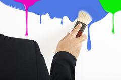 Ζωηρόχρωμο στάλαγμα χρωμάτων στοκ φωτογραφία με δικαίωμα ελεύθερης χρήσης