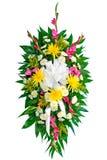 Ζωηρόχρωμο στεφάνι λουλουδιών Στοκ εικόνα με δικαίωμα ελεύθερης χρήσης