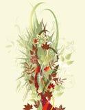 ζωηρόχρωμο στεφάνι φύλλων σχεδίου φθινοπώρου απεικόνιση αποθεμάτων