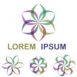 Ζωηρόχρωμο στρογγυλό σύνολο σχεδίου λογότυπων στοκ εικόνα με δικαίωμα ελεύθερης χρήσης