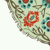 Ζωηρόχρωμο στρογγυλό floral υπόβαθρο γωνιών συνόρων Στοκ Εικόνες
