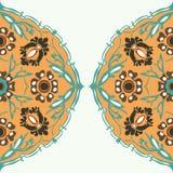 Ζωηρόχρωμο στρογγυλό floral υπόβαθρο γωνιών συνόρων Στοκ εικόνες με δικαίωμα ελεύθερης χρήσης