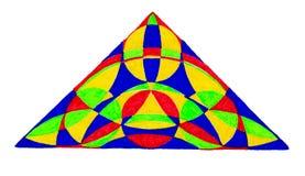 Ζωηρόχρωμο συρμένο χέρι τρίγωνο Στοκ Εικόνες
