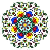 Ζωηρόχρωμο συρμένο χέρι Mandala, ασιατικό διακοσμητικό στοιχείο, εκλεκτής ποιότητας ύφος Στοκ Φωτογραφίες
