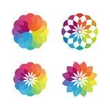 Ζωηρόχρωμο σχέδιο έννοιας λουλουδιών διανυσματικό Στοκ Φωτογραφία