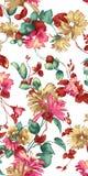 Ζωηρόχρωμο σχέδιο τυπωμένων υλών λουλουδιών Στοκ Φωτογραφίες