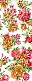 Ζωηρόχρωμο σχέδιο τυπωμένων υλών λουλουδιών Στοκ φωτογραφία με δικαίωμα ελεύθερης χρήσης