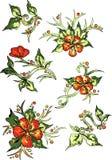 Ζωηρόχρωμο σχέδιο υποβάθρου λουλουδιών άσπρο Διάνυσμα - απόθεμα διανυσματική απεικόνιση