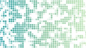 Ζωηρόχρωμο σχέδιο hexagons στο άσπρο υπόβαθρο γεωμετρική ταπετσαρία Αφηρημένο τυχαίο hexagons βίντεο κινήσεων διανυσματική απεικόνιση