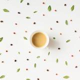 Ζωηρόχρωμο σχέδιο καφέ πρωινού Στοκ Εικόνες