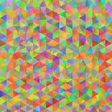 Ζωηρόχρωμο σχέδιο με τα χαοτικά τρίγωνα Στοκ Εικόνες