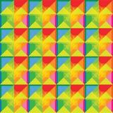 Ζωηρόχρωμο σχέδιο σχεδίων τετραγώνων Στοκ Εικόνα