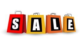 Ζωηρόχρωμο σύμβολο τσαντών πώλησης Στοκ Εικόνα