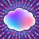 Ζωηρόχρωμο σύννεφο με τα υγιή κύματα ελεύθερη απεικόνιση δικαιώματος