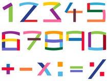 ζωηρόχρωμο σύνολο αριθμ&omicro Στοκ εικόνες με δικαίωμα ελεύθερης χρήσης