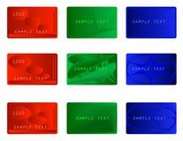 ζωηρόχρωμο σύνολο επαγγελματικών καρτών ελεύθερη απεικόνιση δικαιώματος