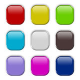 ζωηρόχρωμο σύνολο κουμπ&io Στοκ Εικόνες