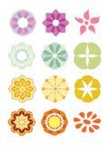 ζωηρόχρωμο σύνολο λουλ& Στοκ φωτογραφία με δικαίωμα ελεύθερης χρήσης