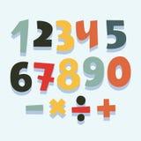 Ζωηρόχρωμο σύνολο αριθμών Στοκ εικόνες με δικαίωμα ελεύθερης χρήσης