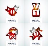 Ζωηρόχρωμο σύνολο επιχειρησιακών λογότυπων βραβείων Στοκ φωτογραφία με δικαίωμα ελεύθερης χρήσης