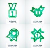 Ζωηρόχρωμο σύνολο επιχειρησιακών λογότυπων βραβείων Στοκ εικόνα με δικαίωμα ελεύθερης χρήσης