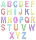 Ζωηρόχρωμο σύνολο ξύλινων επιστολών αλφάβητου Στοκ φωτογραφίες με δικαίωμα ελεύθερης χρήσης