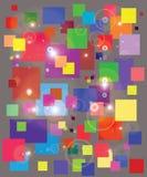 Ζωηρόχρωμο τετράγωνο με τη φλόγα διανυσματική απεικόνιση