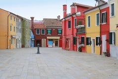 Ζωηρόχρωμο τετράγωνο σπιτιών Στοκ εικόνα με δικαίωμα ελεύθερης χρήσης