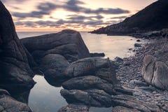 Ζωηρόχρωμο τοπίο σούρουπου Στοκ Φωτογραφίες