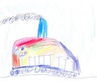 ζωηρόχρωμο τραίνο Διανυσματική απεικόνιση