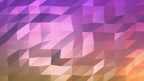 Ζωηρόχρωμο τριγώνων πολυγώνων χωρίς ραφή υπόβαθρο κινήσεων βρόχων ικανό αφηρημένο διανυσματική απεικόνιση