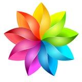 Ζωηρόχρωμο τρισδιάστατο pinwheel Στοκ εικόνες με δικαίωμα ελεύθερης χρήσης